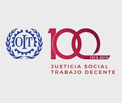 Imagen de logotipo de la Organización Internacional del Trabajo, OIT Centenario