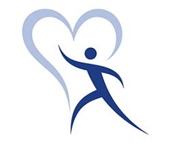 Dibujo de una silueta de una persona dentro del marco de un corazón