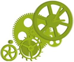 Imagen de un dibujo de un endrenaje de una maquinaria