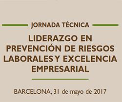 Imagen de la portada de la Jornada técnica: Liderazgo en Prevención de Riesgos Laborales y excelencia empresarial