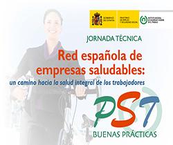Imagen de la portada de la Jornada Técnica: Red española de empresas saludables: Un camino hacia la salud integral de los trabajadores