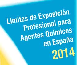 Imagen de la portada de la Jornada Técnica. Límites de Exposición Profesional para Agentes Químicos en España 2014