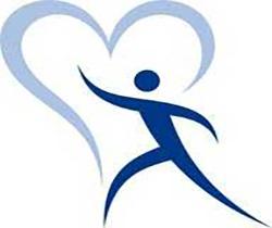 Imagen de un dibujo del contorno de un corazón y en su interior la silueta de una persona, logotipo de Red Española de Empresas Saludables