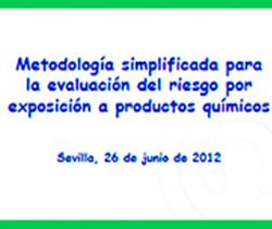 Imagen de portada del Seminario: Metodologías Simplificadas para la Evaluación del Riesgo por Exposición a Agentes Químicos