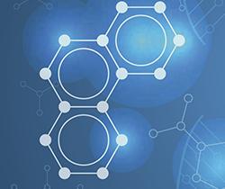 Imagen de un dibujo con tres moléculas