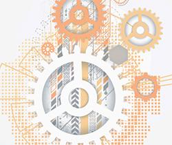 Cartel de la carta de servicios (engranaje)