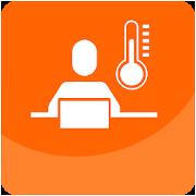 Icono del valor termico global y local en la oficina