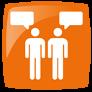 Icono de la evaluación en la comunicacion verbal