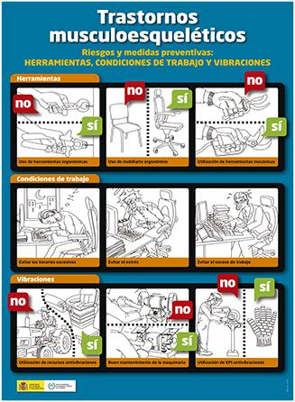 Trastornos musculoesqueléticos. Herramientas, condiciones de trabajo y vibraciones. Cartel - Año 2012