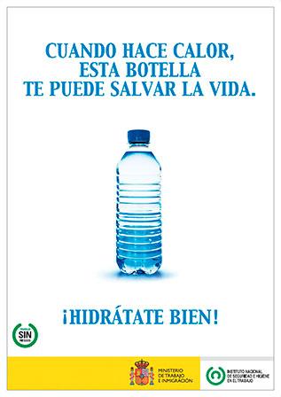 Cuando hace calor, esta botella te puede salvar la vida. Cartel - Año 2011
