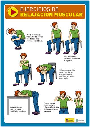 Ejercicios de relajación muscular. Cartel - Año 2012