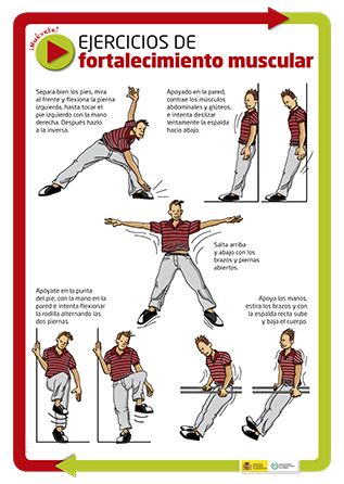 Ejercicios de fortalecimiento muscular. Cartel - Año 2012