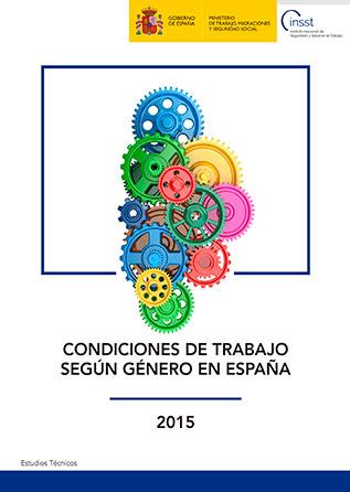Condiciones de trabajo según género en España 2015 -Año 2018