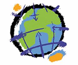 Dibujo de una bola del mundo