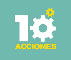 Imagen de logotipo de diez acciones