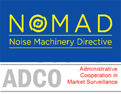Imagen del logotipo del proyecto europeo NOMAD (NOise MAchinery Directive)