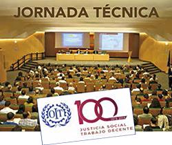 Logotipo de la jornada técnica en la dignidad en el trabajo, de la justicia social