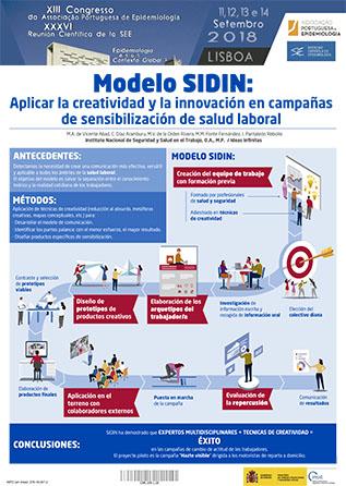 Póster técnico Modelo SIDIN: Aplicar la creatividad y la innovación en campañas de sensibilización de salud laboral - Año 2018