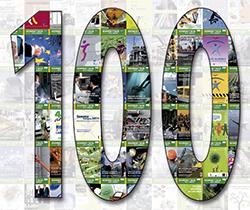 Imagen de un cien relleno de revistas de Seguirdad y Salud en el Trabajo