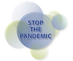Dibujo stop the pandemic, detener a la pandemia
