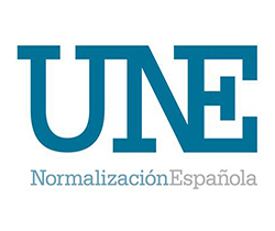 Imagen de logotipo de una norma española UNE