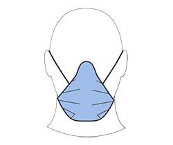 Dibujo de un rostro con mascarilla