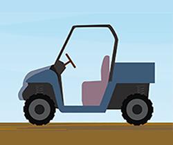 Dibujo de un cuatriciclo para la agricultura