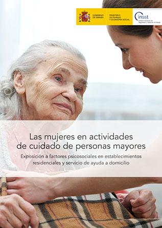 Las mujeres en actividades de cuidado de personas mayores - Año 2020
