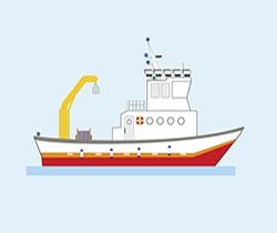 Dibujo de un buque pesquero