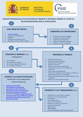 Riesgos psicosociales y trabajo a distancia por Covid-19. Recomendaciones para el empleador - Año 2020