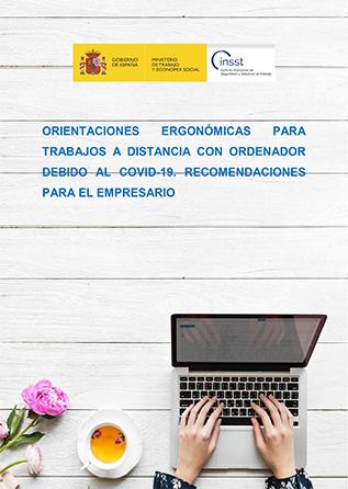 Orientaciones ergonómicas para trabajos a distancia con ordenador debido al COVID-19 - Año 2020