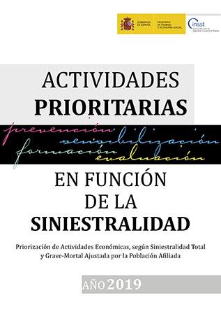 Actividades prioritarias en función de la siniestralidad 2019