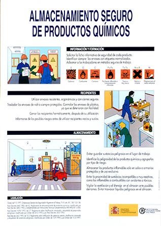 Almacenamiento seguro de productos químicos. Cartel - Año 2001