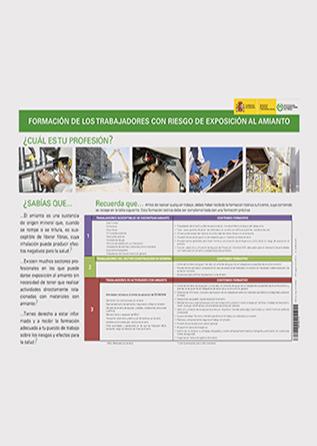 Cartel - Formación de los trabajadores con riesgo de exposición al amianto - Año 2015