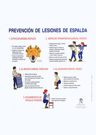 Prevención de lesiones de espalda. Cartel - Año 2011