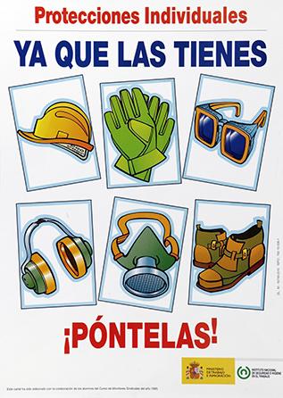 Protecciones individuales. Cartel - Año 2010