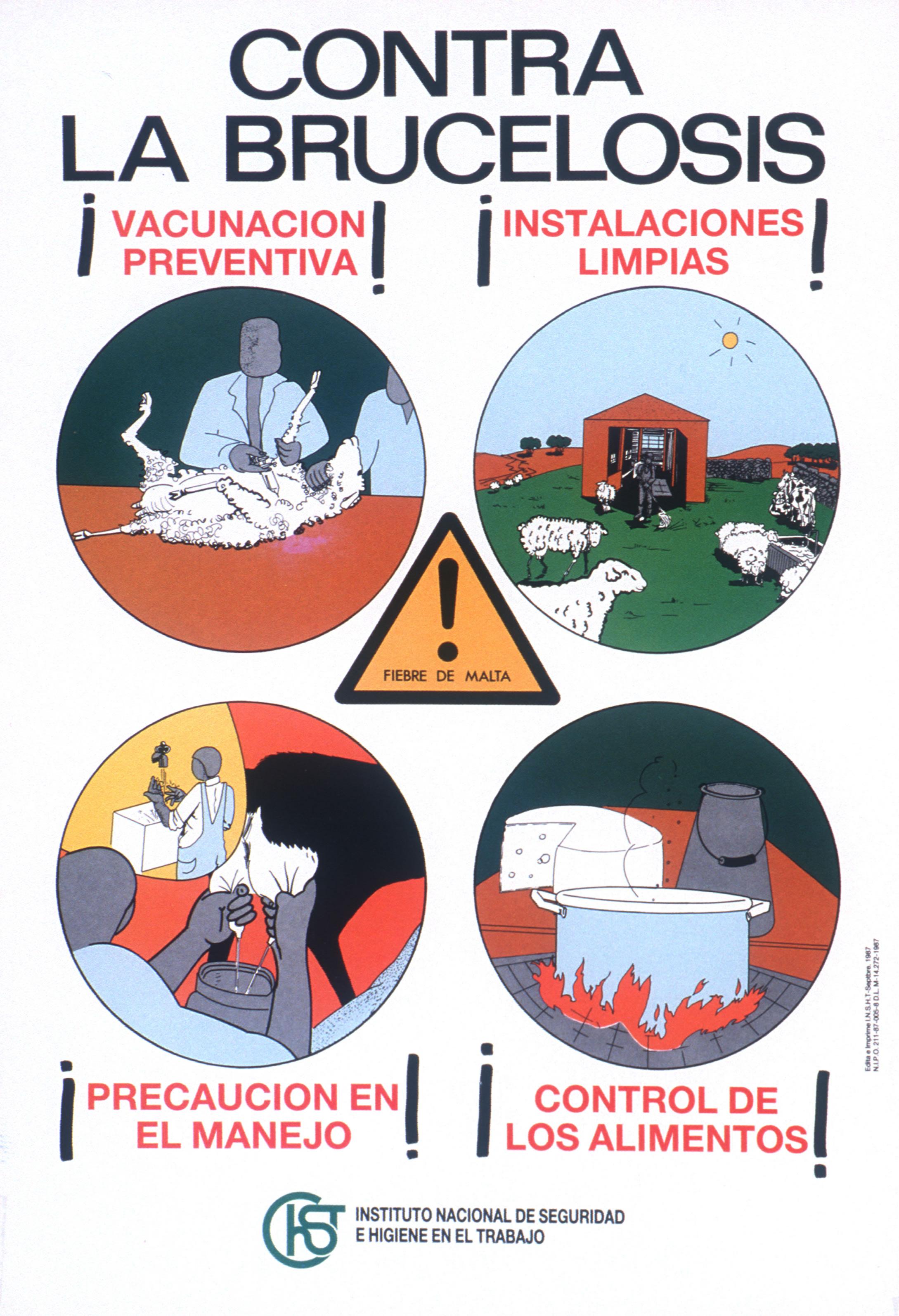 Cartel. Contra la brucelosis - Año 2000