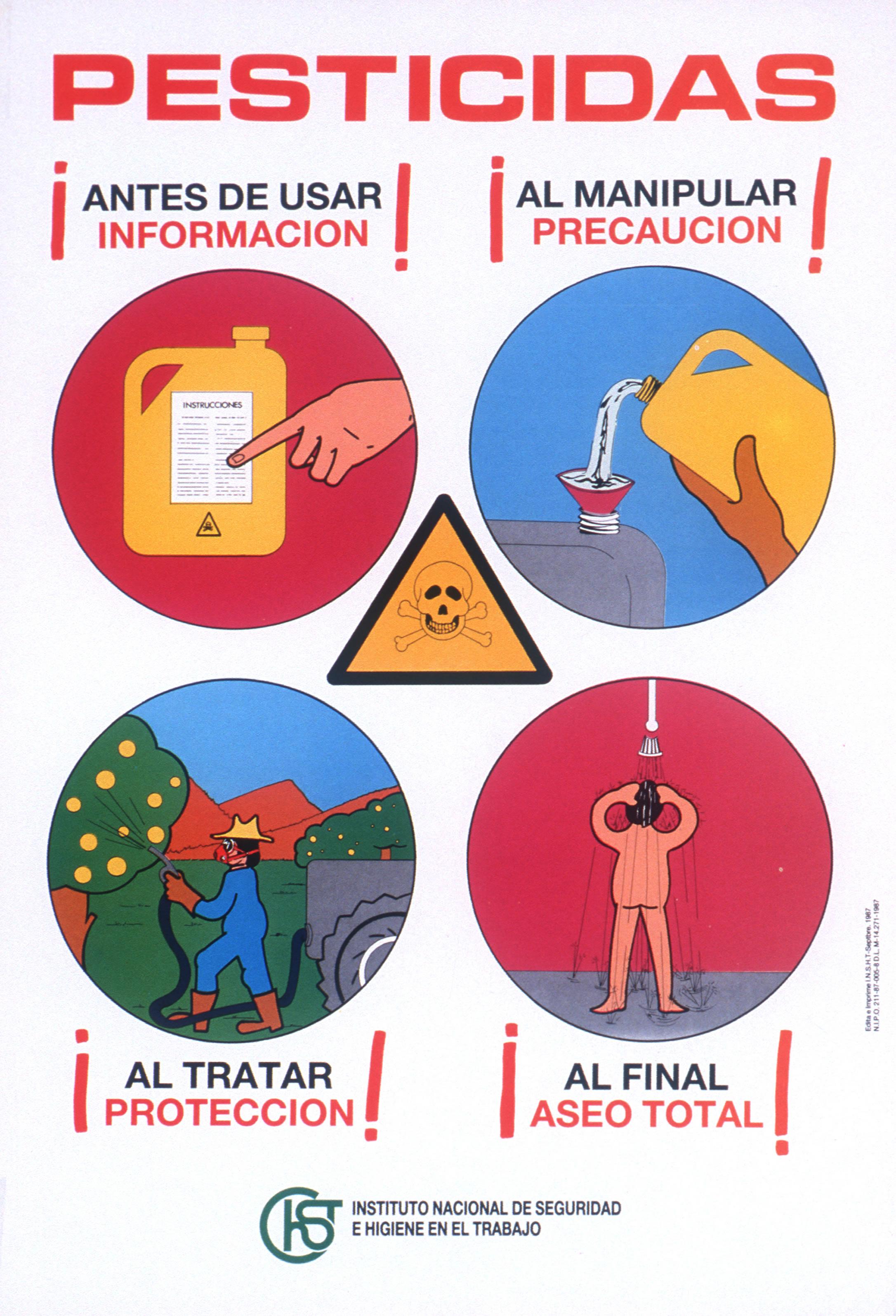Cartel. Pesticidas - Año 2000