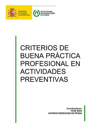 Criterios de buena práctica profesional en actividades preventivas - Año 2011