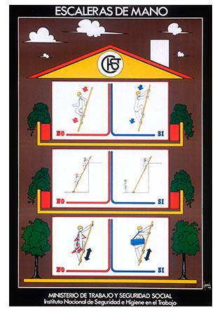 Cartel: Escaleras de mano - Año 2000