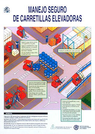 Manejo seguro de carretillas elevadoras. Cartel - Año 2000