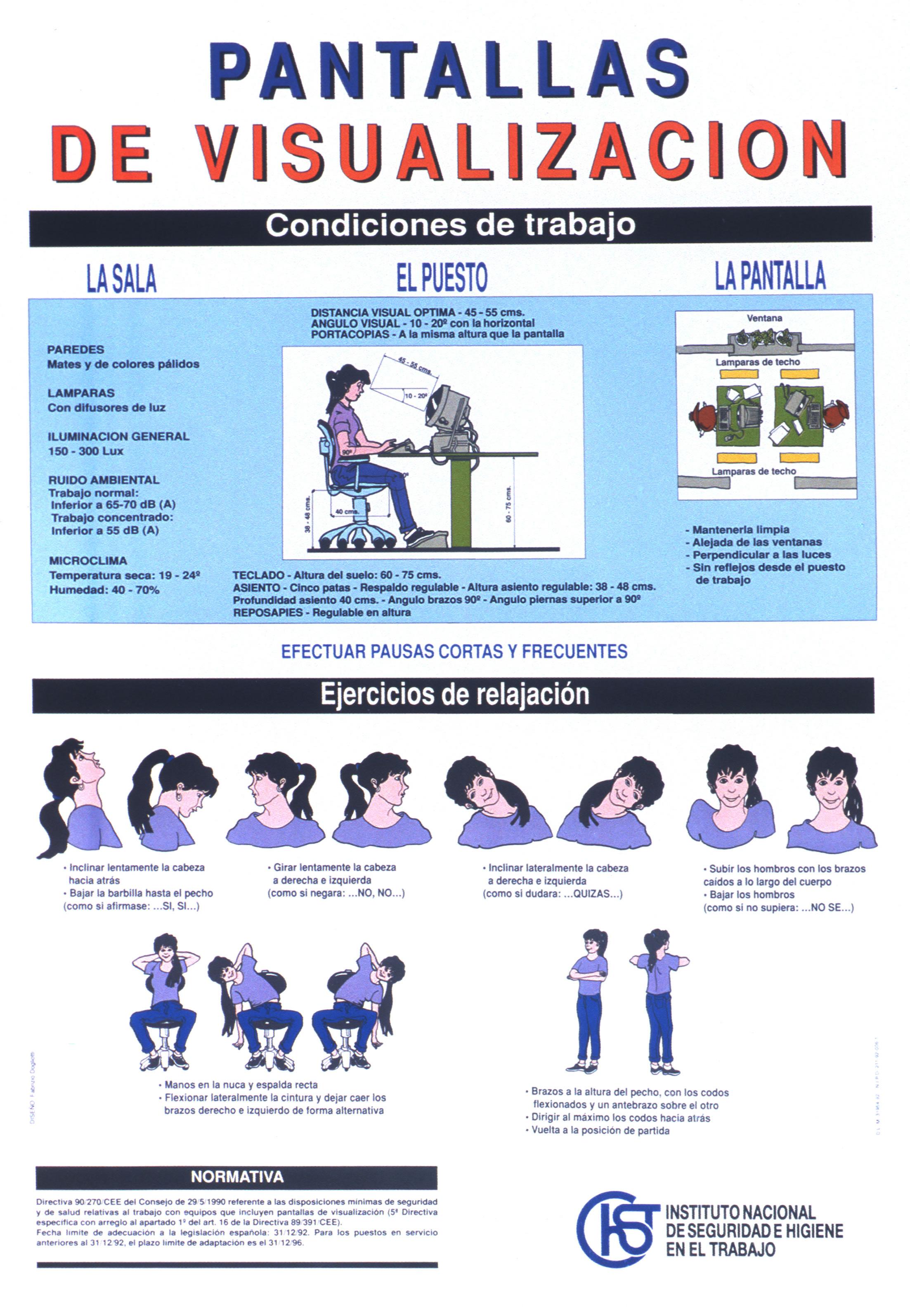 Pantallas de visualización. Cartel - Año 2000