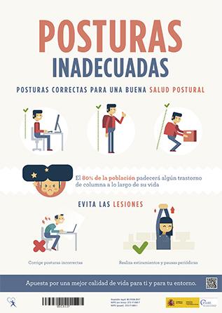 Posturas de trabajo inadecuadas - Ganar en salud - Año 2016