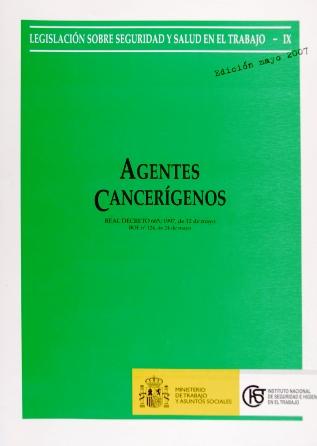 Agentes cancerígenos (Real decreto) - Año 2007