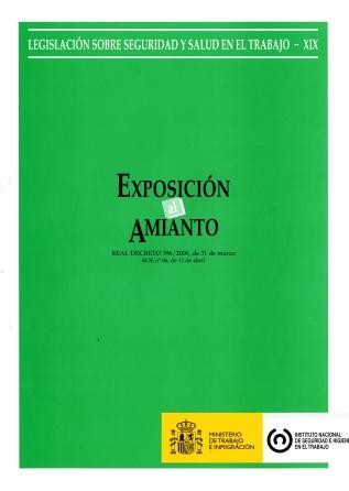 Exposición al amianto (Real decreto) - Año 2011