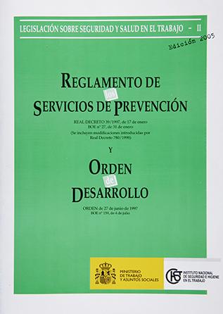 Reglamento de los servicios de prevención (Real decreto) - Año 2011