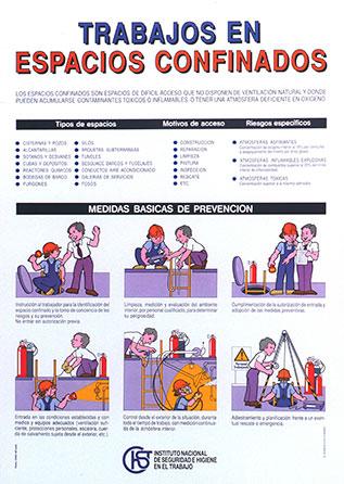 Trabajos en espacios confinados. Cartel - Año 2010