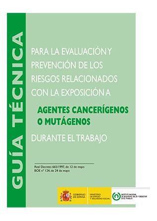 Guía técnica para la evaluación y prevención de los riesgos relacionados con la exposición a agentes cancerígenos o mutágenos durante el trabajo - Año 2017