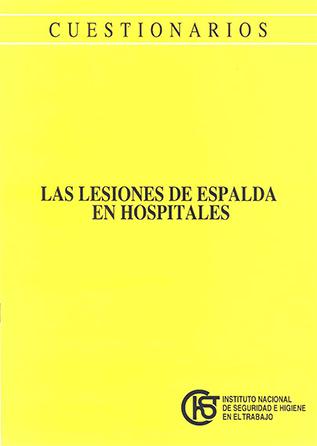 Cuestionario. Las lesiones de espalda en hospitales - Año 1995