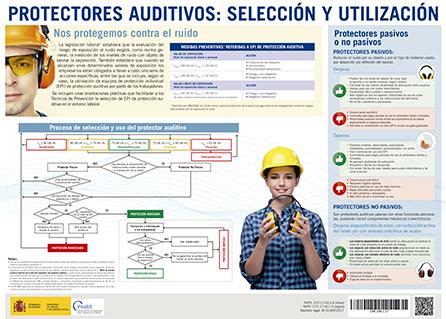 Cartel: Protectores auditivos: selección y utilización - Año 2018